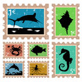 Fish stamps Stock Photo