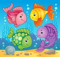 Fish theme image eps vector illustration Stock Image