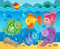 Fish theme image eps vector illustration Stock Photos