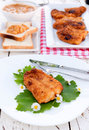 Fish time selective focus on the piecr of fried catfish Royalty Free Stock Images