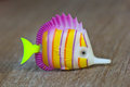 Fish toy color made of plastic Royalty Free Stock Photography