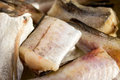 Fish walleye pollock alaska pollock fresh raw Stock Images