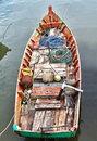 Fisher boat in Ham Ninh Stock Photography