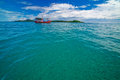 Fishering boat fishery float on the sea phuket thailand Royalty Free Stock Photography