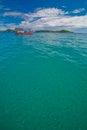 Fishering boat fishery float on the sea phuket thailand Stock Image
