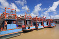 Fishering boat fishery on port in rayong thailand Royalty Free Stock Photos