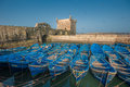 Fisherman boats in essaouira port morocco scenic Royalty Free Stock Photography
