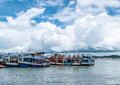 Fisherman boats in Thailand 1 Royalty Free Stock Photo
