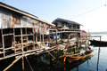 Fisherman community in Thailand Royalty Free Stock Photo