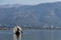 Fisherman inle lake in myanmar burmar reflection of and mountain Royalty Free Stock Images
