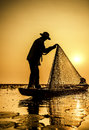 Fisherman of Lake Royalty Free Stock Photo
