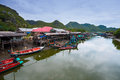 Fisherman's village in Thailand Royalty Free Stock Photo
