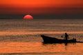 Fisherman in sicily Royalty Free Stock Photo