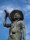 Fisherman statue in Hambantota Royalty Free Stock Images