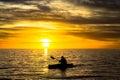 Fisherman & sunset Royalty Free Stock Photo