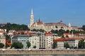 Fisherman towers on Danube riverside Budapest Royalty Free Stock Photo