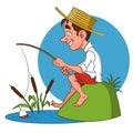Fisherman. Royalty Free Stock Photo