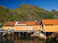 Fisherman village, Lofoten Stock Images