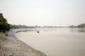 Fishermen on a boat in Sundarbans, India Royalty Free Stock Photo