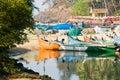 Fishermen coming back to baga goa india horizontal colour image of Royalty Free Stock Image