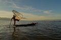 Fishermen At Dawn Of Inle Lake