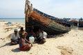 Fishermen in India Royalty Free Stock Photo