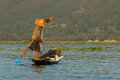 Fishermen at Inle Lake Royalty Free Stock Photo