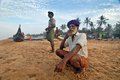 Fishermen of Kerala Royalty Free Stock Image