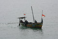 Fishermen looking for fish in the middle of the sea in jepara central java indonesia Stock Photo