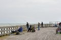 Fishermen on the Pier Royalty Free Stock Photo