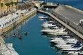 Fishermen's boats in Valletta harbor Malta Royalty Free Stock Photo