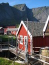 Fishermen's cabin on the Lofoten Islands Stock Image