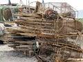 Fishermen`s hut for fishing tools Royalty Free Stock Photo