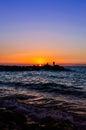 Fishermen In Soft Sunset Royalty Free Stock Photo