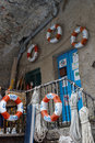 Fishermen tools in the marina of a village of the Cinque Terre Royalty Free Stock Photo