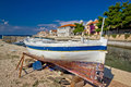 Fishermen village of Bibinje waterfront Royalty Free Stock Photo