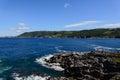 Fishermen village on coastline Royalty Free Stock Photo