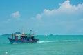 Fishery boat a mackerel in satun thailand Royalty Free Stock Image