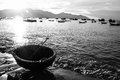 Fishery village early morning in taken in vietnam Stock Image