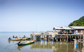Fishery village at the sea Royalty Free Stock Photos