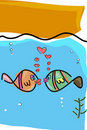 Fishes in love Stock Images