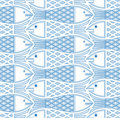 Fishes seamless pattern. Royalty Free Stock Image