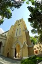 Fisheye view of St John cathedral church, Hong Kon Royalty Free Stock Photo