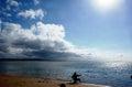 Fishing Alone Royalty Free Stock Photo