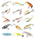 Fishing Baits Collection Stock Photography