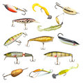 Fishing Baits Collection Royalty Free Stock Photos