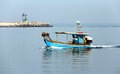 Fishing boat in the adriatic sea italy Royalty Free Stock Photography