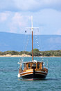 Fishing boat on aegean sea Royalty Free Stock Photography