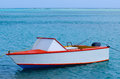 Fishing boat in aitutaki lagoon cook islands colorful Stock Photos