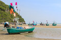 Fishing boat on the beach hua hin beach thailand Royalty Free Stock Photography